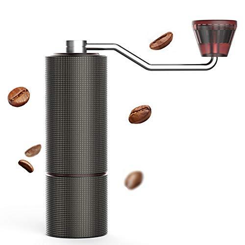 タイムモア TIMEMORE 栗子C2 手挽きコーヒーミル 手動式 コーヒーグラインダー ステンレス臼 粗さ調整可能 4色選択可 清掃しやすい coffee grinder 家庭用 省力性 ダイヤモンド (レッド)