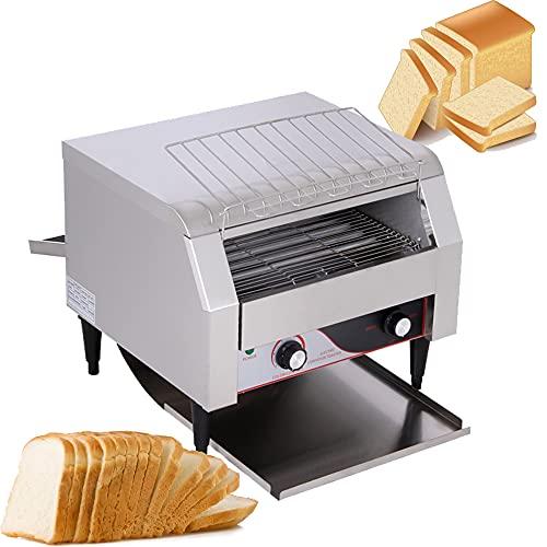 Elektrischer Toaster,Automatische Brotmaschine,Elektrischer handelsüblicher Edelstahl Toaster,automatische Toastmaschine für Brot,herausnehmbare Krümelschale, Temperatur 0 ~ 280 ° C
