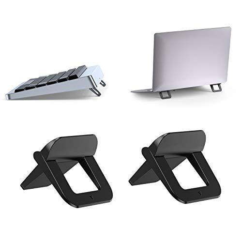 TENSUN Soporte para Portátil Invisible, 2Pcs Soporte para Computadora Portátil Plegable, Cooling Ergonómico Soporte para Portátil, MacBook, Teclado Inalámbrico (12-17 Inch)