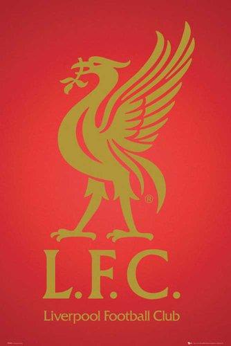 Empire Liverpool Football Club Crest 2013 Poster avec Accessoires avec 2 Baguettes Noires