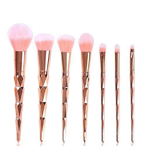 Make-up kwastenset Poeder Blush oogschaduw borstels Make-up Brush Kit 7 Stuk volledige make-up borstel voor beginners en professionals geschikt voor alle huidtypen