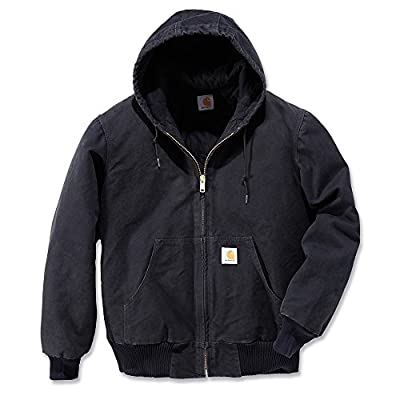 Carhartt Men's Sandstone Active Jacket,Black,Medium