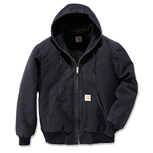 Carhartt Men's Sandstone Active Jacket,Black,Large
