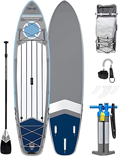 SHKUU Tabla Paddle Surf Inflable Integral 11 Largo 32 Ancho 6 Paquete Sup Grosor