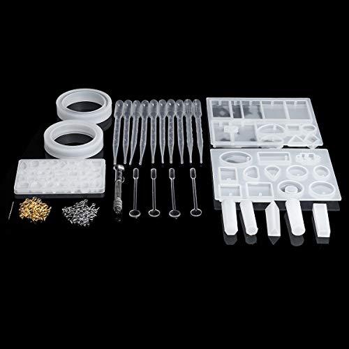 ZOYOSI 125CS DIY pulsera colgante epoxi molde conjunto joyería colgante silicona molde artesanía