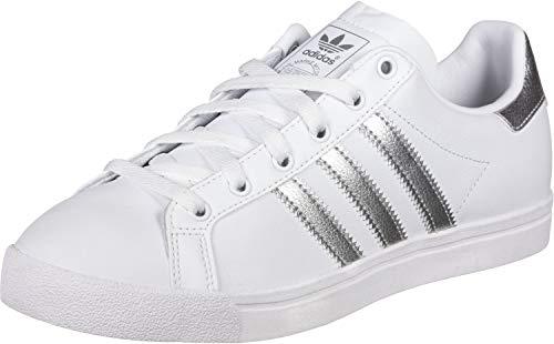 adidas Damen Coast Star Sneaker, Weiß (Footwear White/Silver Metallic/Grey 0), 37 1/3 EU