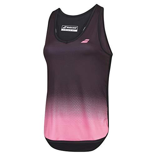 Babolat Compete Tank Top Women Camiseta De Tirantes, Mujer, Black/Geranium Pink, S