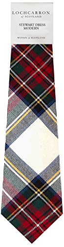 I Luv Ltd Gents Neck Tie Stewart Dress Modern Tartan Lightweight Scottish Clan Tie
