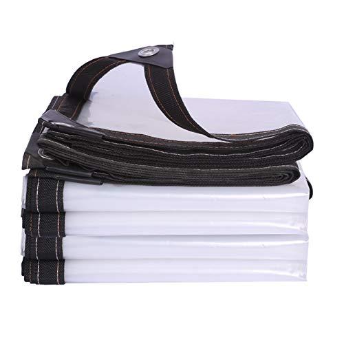 Lona de Uso Múltiple al aire libre Lonas Transparente Impermeable Espesar Paño de Plástico PE,Exterior Ventana de Balcón Toldo de Aislamiento Película de Invernadero,con Ojetes (3x9m/9.8x29.5ft)