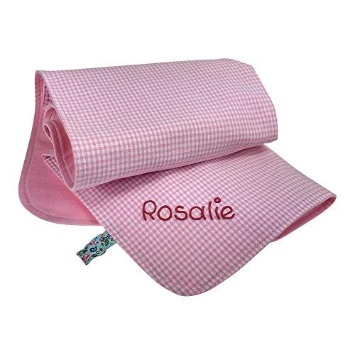 Baby Jersey deken met naam, babydeken gepersonaliseerd, knuffeldeken met naam, kinderwagendeken, kruipdeken, knuffeldeken roze