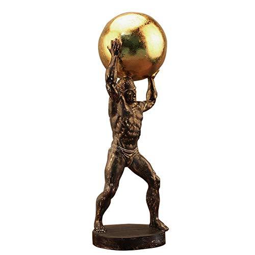 LIUSHI Adornos de Estatua de Hércules, Escultura de Resina