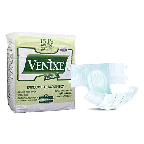 Pannolone per incontinenza Adulti VENIXE Elastic Taglia L - 6 cf di 15pz/cad, TOTALE 90 PANNOLONI
