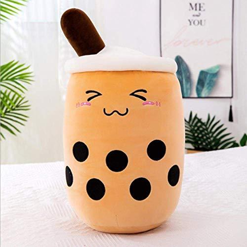 XIAN Gästehung Lebenswertiger Blase Tee Plüschtiere Weiche Lebensmittel Milch Kaffee Gefüllte Puppe Smiley Gesicht Boba Früchte Teetasse Kissen Kissen Geburtstagsgeschenk-d_50cm hailing