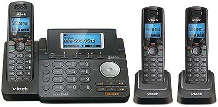 VTech DS6151-11 DECT 6.0 2-Line Expandable Cordless Phone + (2) DS6101-11 Accessory Handset, Black photo