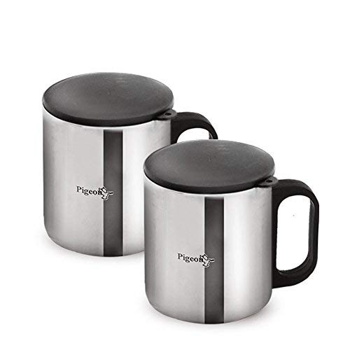 Pigeon Coffee Cup Double (Silver)