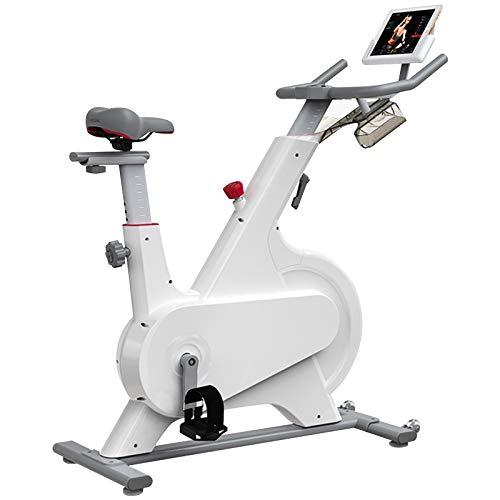 ATGTAOS Bicicleta Estática, Ciclismo, Fitness, Gimnasio, Ejercicio, Cardio, Entrenamiento, Hogar, Interior, Cardio, Resistencia Magnética Silenciosa, con Soporte para iPad y Cómodo Cojín de Asiento