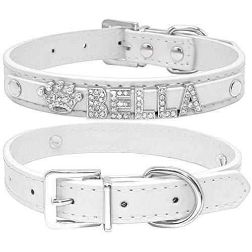 Collar De Perro Collares De Perro Cachorro De Diamantes De Imitación Brillantes Personalizados Perros Pequeños Collar De Chihuahua Collar Personalizado Encantos De Nombre Gratis Accesorios Para Masco