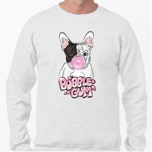 Positivos Sudaderas Jersey Frenchie con Chicle Fresa - XL