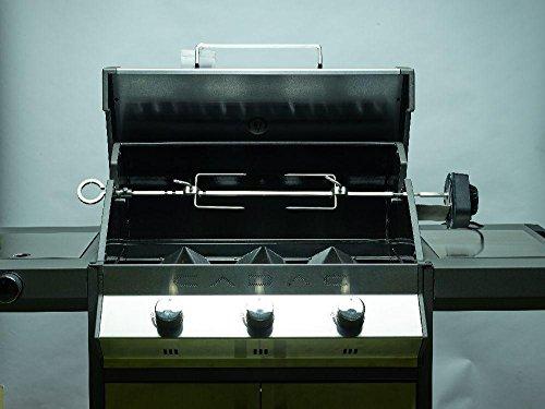 Tournebroche professionnelle pour barbecue à gaz - Compatible avec la série Weber Spirit et Cadac Meridian