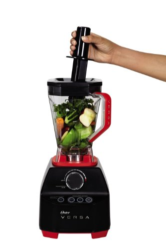 Oster Versa Blender | 1400 Watts | Stainless Steel Blade | Low Profile Jar | Perfect for Smoothies, Soups, Black