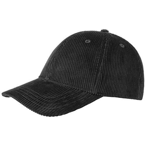 Gorra básica de béisbol de pana negro Talla única