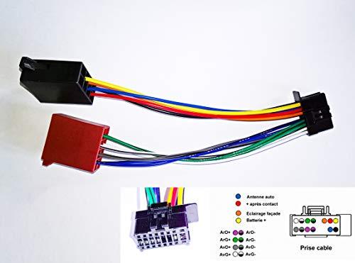 Le Palais du BricBrac Câble Adaptateur Faisceau ISO 16 pin pour autoradio Pioneer - Nouveau