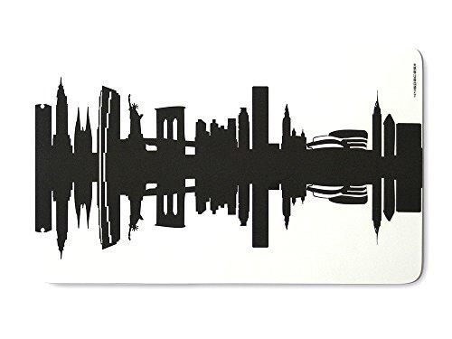 44spaces Original New York Frühstücksbrettchen Skyline schwarz, Kleines Geschenk Design-Brettchen, spülmaschinenfest, 23,5x14,5cm
