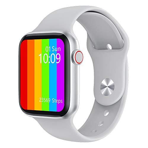 YEYOUCAI Fitness Tracker W46 1.74 pulgadas IPS pantalla a color IP68 impermeable reloj inteligente, compatible con monitor de sueño/monitor de frecuencia cardíaca/monitoreo de presión arterial