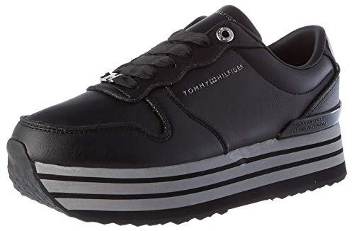 Tommy Hilfiger Ariana 3c1, Sneakers para Mujer, Negro, 36 2/3 EU