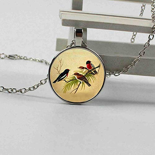 New Retro Magpie Singing Bird Animal Natural Crystal Pendant Charm Long Chain Ms. Necklace