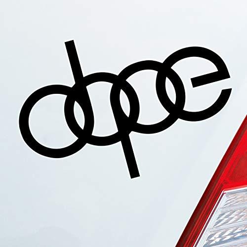 Auto Aufkleber in deiner Wunschfarbe Dope Logo Fun Tuning für Audi Fans OEM JDM 12x8 cm Autoaufkleber Sticker