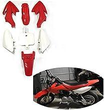 Podoy CRF50 Body Fender Kit for Compatible with Honda XR50 XR 50 CRF 50 SDG SSR Pit Dirt Motor Trail Bike Black with Bolt Work Fairing Plastic