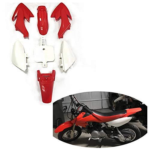 HONGK- Motorctcly Red Plastic Fender Kit Body Work Fairing Kit Compatible with Honda CRF XR XR50 CRF50 Clone 125CC Pit Dirt Bike [B01BI85V1U]