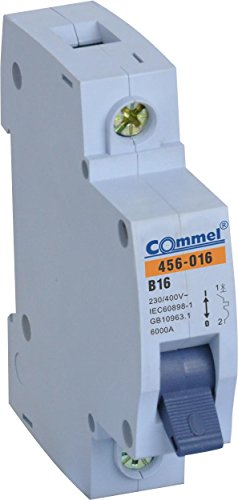 FI-SCHUTZSCHALTER 10 16 20 25 32 40 B Sicherungsautomat Leitungsschutzschalter (MCB 16A 1 -Polig B)