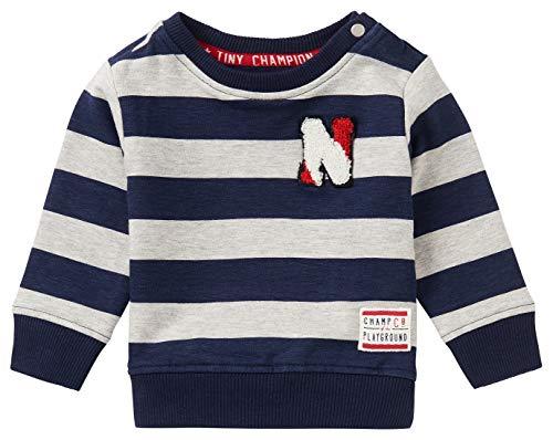Noppies Baby-Jungen B Sweat LS Froglogg STR Sweatshirt, RAS105 L. Grey Mel. -P601, 56