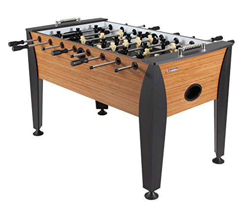 Atomic Pro Force 56' Foosball Table with Internal Ball Return and Ball Entry, Leg Levelers, and Heavy-Duty Legs