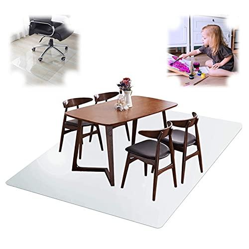 Klare Schreibtischunterlage Matte Bürostuhlmatte für Hartholz- und Fliesenböden,quadratische Matten,Haushaltsteppichschutz,1.5mm,Kleine Größe (Size : 125x125cm/49x49in)