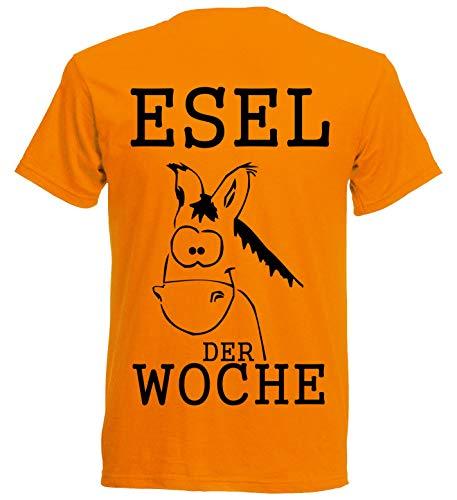 Esel der Woche T-Shirt - Strafshirt für Fussball + Arbeit + Sport (L)