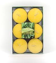 Unbekannt Citronella Duftlichter Jumbo Ø ca. 5,8 cm Zitrone Teelichter Outdoor Brenndauer Ca. 3h Anti Mücken Kerzen