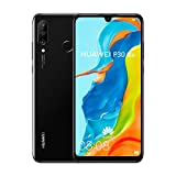 Huawei P30 Lite (128GB, 4GB RAM) 6.15' Display, AI Triple Camera, 32MP Selfie, Dual SIM Global 4G LTE GSM Factory Unlocked MAR-LX3A - International Version (Midnight Black)