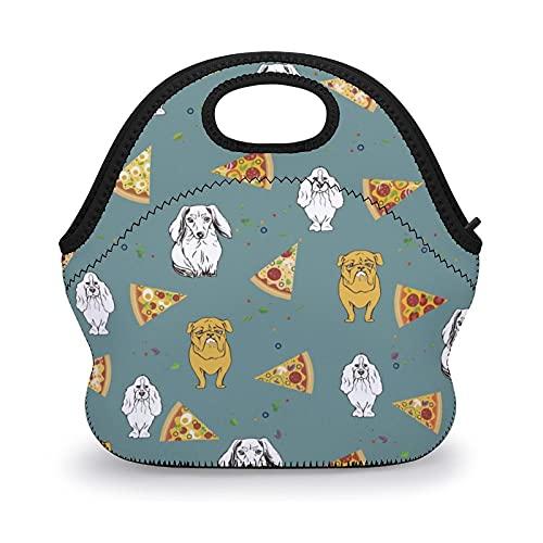 Bolsas de almuerzo reutilizables con estampado de pizza, bolsas de almuerzo para niños, mujeres, escuela, bolsa de almuerzo