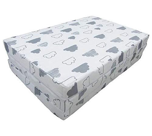 Kikka Boo Colchón plegable60*120 * 5 cm - Soft Nubes - Colchones para cunas