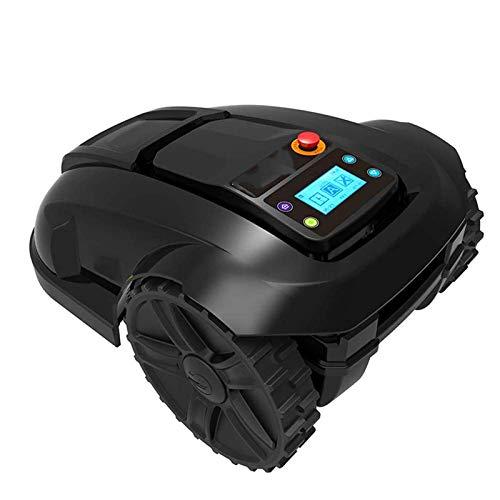 Cortacésped es inteligente eléctrico cortacésped, cortacéspedes robóticos de carga automática impermeable, protección contra lluvia inteligente Evitación de obstáculos Tiempo antirrobo Cortacésped