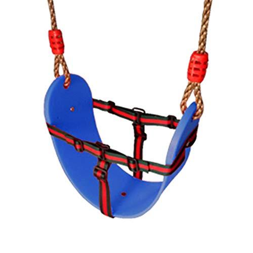 PQXOER-SP Schaukel Kinderschaukel Schaukelsitz for Kinder Hochleistungs-Seilspiel Sicheres Kinderschaukelset, perfekt for den Indoor-Outdoor-Spielplatz Home Tree (Farbe : Blau, Größe : 66.5x14cm)