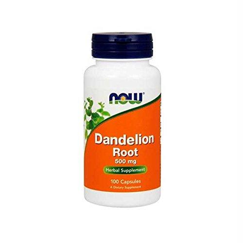 NOW Foods Dandelion Root 500 mg Caps, 100 ct
