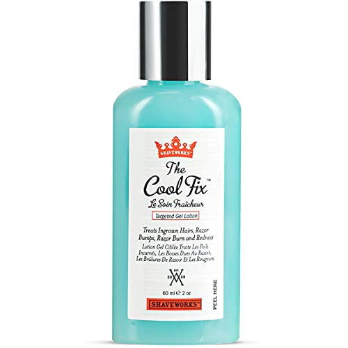 Shaveworks The Cool Fix Aftershave for Women: Pubic Hair Removal, Razor Bumps, Razor Burns, Ingrown Hair Treatment – After Shaving Post Waxing Bikini Area Moisturizing Skin Care Gel 2 Fl Oz