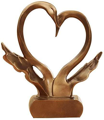 Dongyd Estudio esculturas Creaciones hogar Creativo Adornos Inicio Accesorios imitación Cobre Adornos Europea de la Sala de TV del gabinete Decoración Artesanía