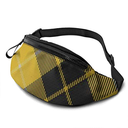OPLKJ Scots Style Clan Murray Tartan Plaid Adjustable Fanny Running Waist Pack Bag