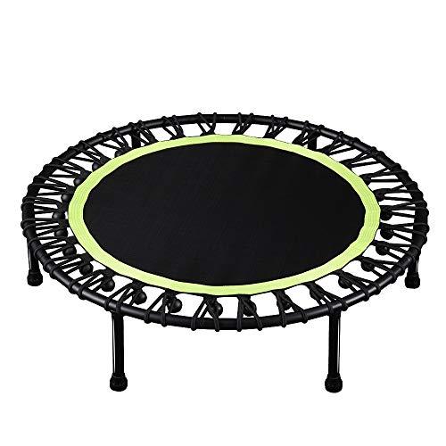 LZZJ 40'Fitness Trampoline Silent Mini Fitness Cebounder para Adultos Kids Indoor Gym Bungee Rebounder Jump Trainer Entrenamiento (Color : Green)