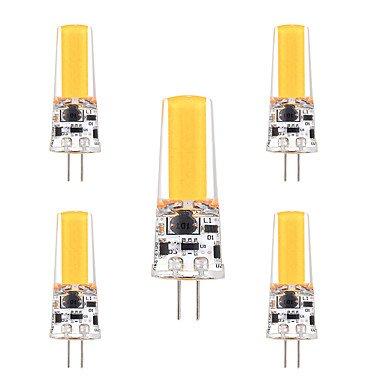 WELSUN 3W G4 LED Ampoule à Double Broches T 1 COB 200-300 lm Blanc Chaud Blanc Froid Gradable Décorative AC 12 V 5 pièces ( Light Source Color : Cool White )